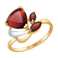 Золотое кольцо с гранатами ДИ714624