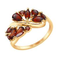 Золотое кольцо с гранатами ДИ714842