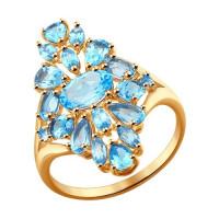 Золотое кольцо с топазами ДИ714263