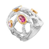 Серебряное кольцо с сваровски ПВР0154
