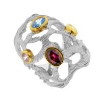 Серебряное кольцо с сваровски ПВР-0154