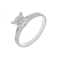 Серебряное кольцо с фианитами и сваровски ЮП1010010370