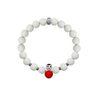 Серебряный браслет с жадеитами, эмалью и гематинами ДИ8510500032