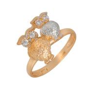 Золотое кольцо с фианитами АБ1201380Р