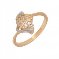 Золотое кольцо с фианитами АБ1201386Р