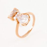 Золотое кольцо с фианитами АБ1201375Р