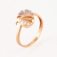 Золотое кольцо с фианитами АБ1201373Р