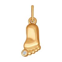 Золотая подвеска с фианитами ДИ034726