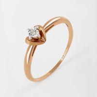 Золотое кольцо с бриллиантом КРК3212982/9