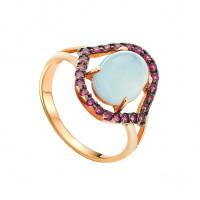 Золотое кольцо с халцедонами АА1348157