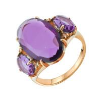 Золотое кольцо с агатами, кварцем и вставкой «кошачий глаз» АА1348187