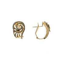 Золотые серьги с бриллиантами ЮЕЕ29562Ц