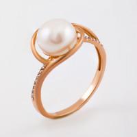 Золотое кольцо с жемчугом ФЖ31061.1