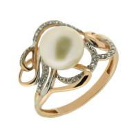 Золотое кольцо с жемчугом ПЭ1901453Р