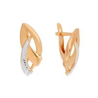 Золотые серьги 7А21609
