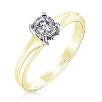 Золотое кольцо с бриллиантом ЮЗ1-11-0806-301