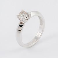 Кольцо из белого золота с бриллиантом ЮЗ1-11-0808-201