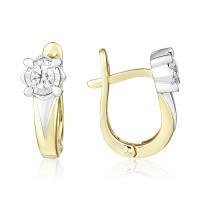 Золотые серьги с бриллиантами ЮЗ2-11-0834-301