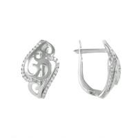 Серебряные серьги с фианитами ЮП1210010112