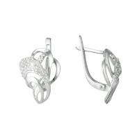 Серебряные серьги с фианитами ЮП1210010316