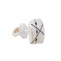 Серебряные серьги полупара с фианитами ИЬ902642-6