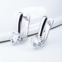 Серебряные серьги с сваровски ЮП1210013843