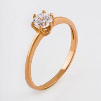 Золотое кольцо с фианитами 2БКЗ5К-01-1155-01