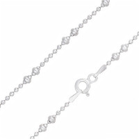 Серебряная цепочка с шариками серебрами ЭФЦ333-157