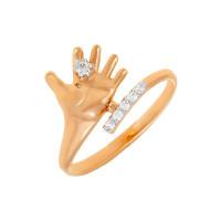 Золотое кольцо с фианитами 7А11453