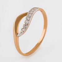 Золотое кольцо с фианитами 2БКЗ5К.1-01-1041-01
