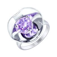 Серебряное кольцо с фианитами ДИ8-94010002