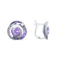 Серебряные серьги с фианитами ДИ8-94020002
