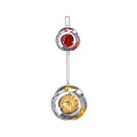 Серебряная подвеска с фианитами ДИ8-94030015