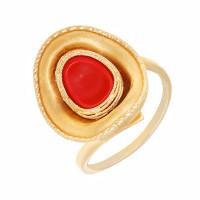 Золотое кольцо с пластиком РВПК6135Рпккр