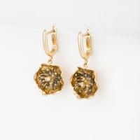 Золотые серьги подвесные с бриллиантами РВГЛХЕ0015-00
