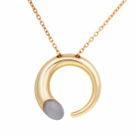 Золотое колье с лунными камнями