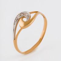 Золотое кольцо с фианитами 2БКЗ5К.1-01-1008-01