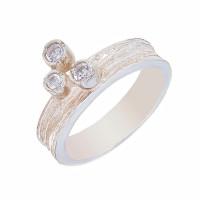 Серебряное кольцо с фианитами ИЬ9081022