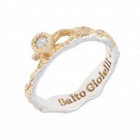 Серебряное кольцо с фианитами ИЬ9081033