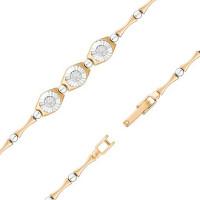 Золотой браслет с бриллиантами ЮИБР113-5082-18