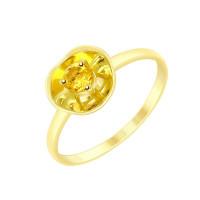 Золотое кольцо с цитрином ДИ8710027