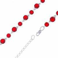Серебряный браслет с кварцем плавленым РОБРС055Р115