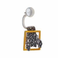 Серебряные серьги полупара ИЬ922530 без вставок камней