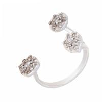 Серебряное кольцо с фианитами ИЬ9203