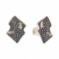 Серебряные серьги гвоздики ИЬ91264 без вставок камней