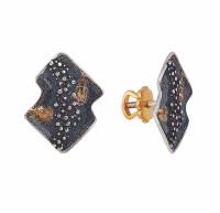 Серебряные серьги гвоздики ИЬ91263 без вставок камней
