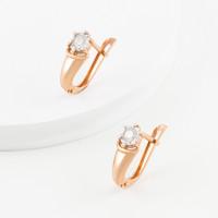 Золотые серьги с бриллиантами КРС3222613/9