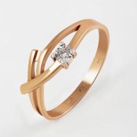 Золотое кольцо с бриллиантом КРК3212891/9