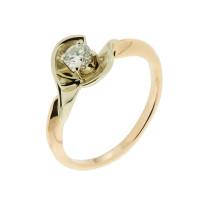 Золотое кольцо с бриллиантом РГ718