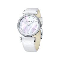 Серебряные часы с фианитами ДИ106.30.00.001.05.02.2